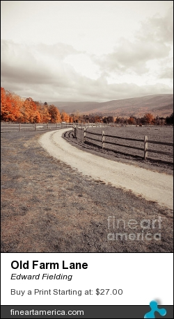 Old Farm Lane by Edward Fielding - Photograph - Photography
