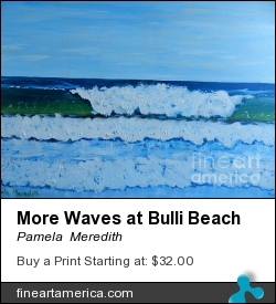 More Waves At Bulli Beach by Pamela Meredith - Painting - Acrylics On Gallery Stretched Canvas