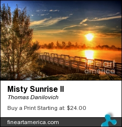 Misty Sunrise II by Thomas Danilovich - Photograph
