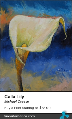 Calla Lily by Michael Creese - Painting - Oil On Canvas