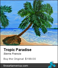 Tropic Paradise by Sierra Francis - Painting - Acrylic On Canvas