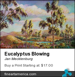 Eucalyptus Blowing by Jan Mecklenburg - Painting - Acrylic Paints On Canvas