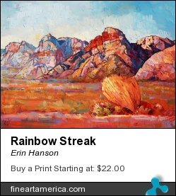Rainbow Streak by Erin Hanson - Painting - Oil On Canvas