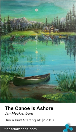 The Canoe Is Ashore by Jan Mecklenburg - Painting - Acrylic Paints On Canvas