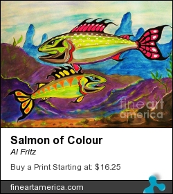 Salmon Of Colour by Al Fritz - Photograph - Canvas