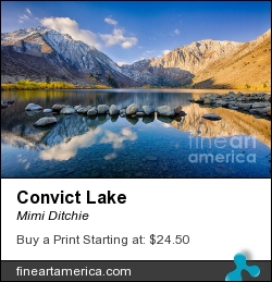 Convict Lake by Mimi Ditchie - Photograph - Photograph