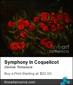 Symphony In Coquelicot by Denise Tomasura - Painting - Oil