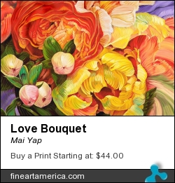 Love Bouquet by Mai Yap - Painting - Oil On Canvas