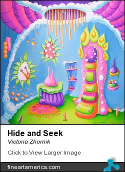 Hide And Seek by Victoria Zhornik - Painting - Acrylic On Canvas