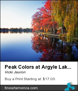 Peak Colors At Argyle Lake by Vicki Jauron - Photograph - Photography