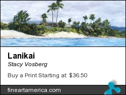 Lanikai by Stacy Vosberg - Painting - Oil On Panel