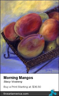 Morning Mangos by Stacy Vosberg - Painting - Acrylic On Canvas
