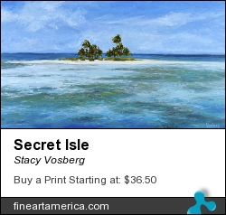 Secret Isle by Stacy Vosberg - Painting - Oil On Panel