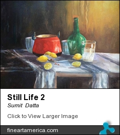 Still Life 2 by Sumit Datta - Painting - Watercolor