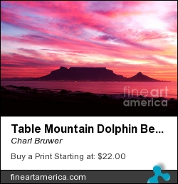 Table Mountain Dolphin Beach by Charl Bruwer - Photograph - Photograph