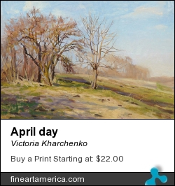 April Day by Victoria Kharchenko - Painting - Oil On Canvas