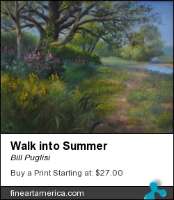 Walk Into Summer by Bill Puglisi - Painting - Oil On Canvas