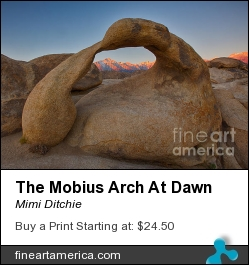 The Mobius Arch At Dawn by Mimi Ditchie - Photograph - Photograph