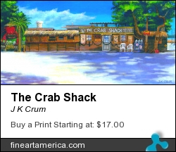 The Crab Shack by J K Crum - Painting - Acrylic