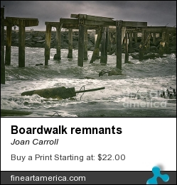 Boardwalk Remnants by Joan Carroll - Photograph - Digital Photograph