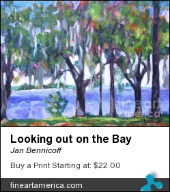Looking Out On The Bay by Jan Bennicoff - Painting - Alkyds On Stretched Canvas