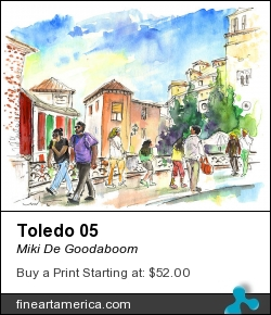 Toledo 05 by Miki De Goodaboom - Painting - Watercolour