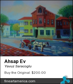 Ahsap Ev by Yavuz Saracoglu - Painting - Oil On Canvas