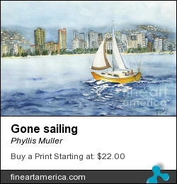 Gone Sailing by Phyllis Muller - Painting - Watercolor