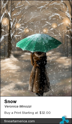 Snow by Veronica Minozzi - Digital Art - Ipad Painting