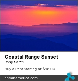 Coastal Range Sunset by Jody Partin - Photograph - Photograph