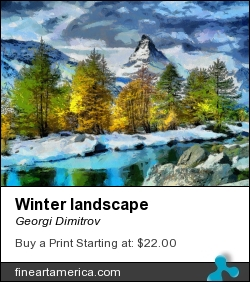 Winter Landscape by Georgi Dimitrov - Painting - Digital Painting