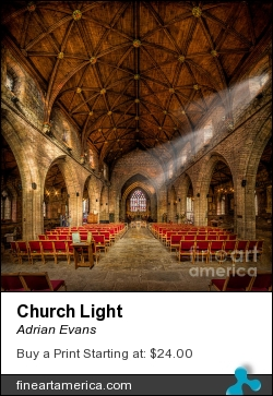 Church Light by Adrian Evans - Photograph