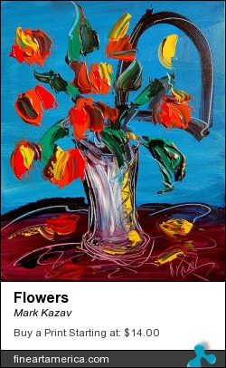 Flowers by Mark Kazav - Painting - Oil On Canvas