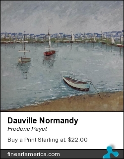 Dauville Normandy by Frederic Payet - Painting - Acrylic Palette Knife