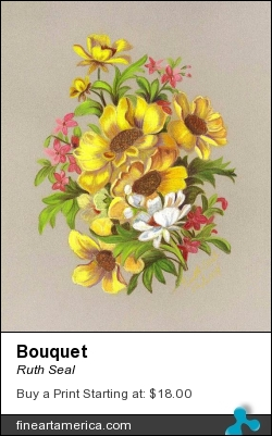 Bouquet by Ruth Seal - Drawing - Colored Pencil