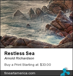Restless Sea by Arnold Richardson - Photograph