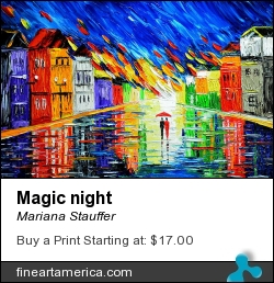 Magic Night by Mariana Stauffer - Painting - Oil On Canvas