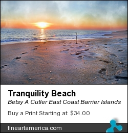 Tranquility Beach by Betsy A Cutler East Coast Barrier Islands - Photograph - Fine Art Photography
