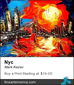 NYC by Mark Kazav - Painting - Oil On Canvas