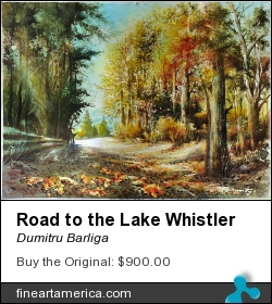 Road To The Lake Whistler by Dumitru Barliga - Painting - Watercolor