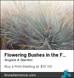 Flowering Bushes In The Fog by Angela A Stanton - Painting - Oil Painting
