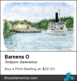 Barnens O by Torbjorn Swenelius - Painting - Watercolor