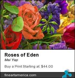 Roses Of Eden by MAI YAP - Painting - Oil On Canvas