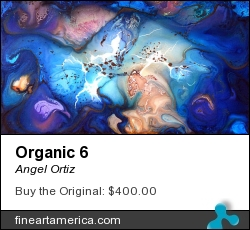 Organic 6 by Angel Ortiz - Painting - Acrylic On Canvas