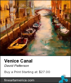 Venice Canal by David Patterson - Painting - Soft Pastel