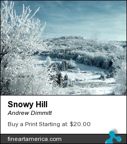 Snowy Hill by Andrew Dimmitt - Photograph