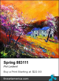 Spring 883111 by Pol Ledent - Painting - Oil On Canvas
