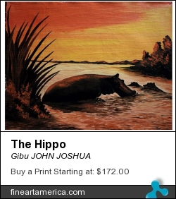 The Hippo by Gibu JOHN JOSHUA - Painting - Acrylic On Canvas