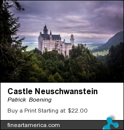 Castle Neuschwanstein by Patrick  Boening - Photograph