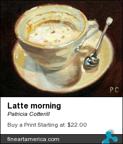 Latte Morning by Patricia Cotterill - Painting - Oil On Canvas